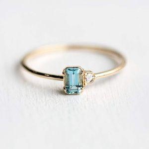 Dainty Zircon Ring